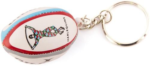 Gilbert rugbybal sleutelhanger HARLEQUINS