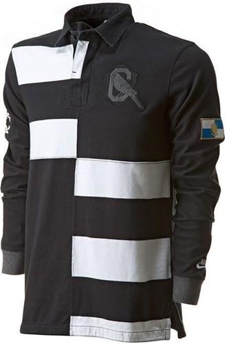 nike Old School Rugby shirt zwart/wit banner  Zwart - S