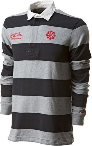 nike Old School rugby Shirt  Grijs - S