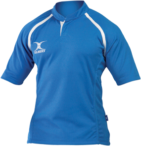 Gilbert rugbyshirt Xact Ii Light Sky maat M