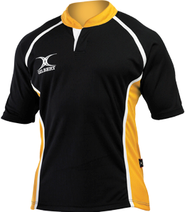 Gilbert SHIRT XACT II BLACK/AMBER 7-8