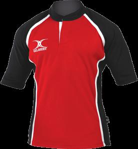 Gilbert SHIRT XACT II RED/BLACK XL