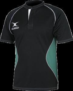 Gilbert SHIRT XACT V2 BLACK/GREEN 9-10