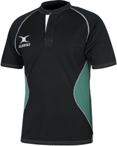 Gilbert SHIRT XACT V2 BLACK/GREEN L