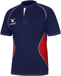 Gilbert SHIRT XACT V2 NAVY/ROOD 2XL