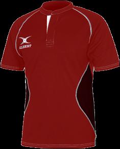Gilbert SHIRT XACT V2 RED/BLACK 7-8