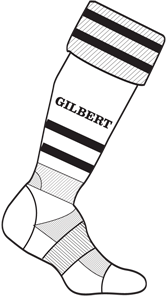 Gilbert SOCK TRAINING II WHT MINI 12-2