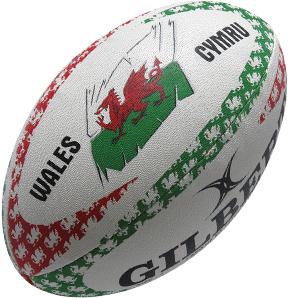 Gilbert rugbybal Anthem Wales maat 5