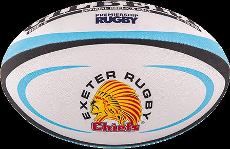 Gilbert rugbybal REPLICA EXETER - Mini 15cm