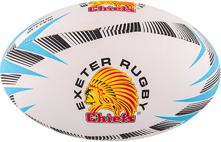 Gilbert rugbybal Supporter Exeter Sz 4