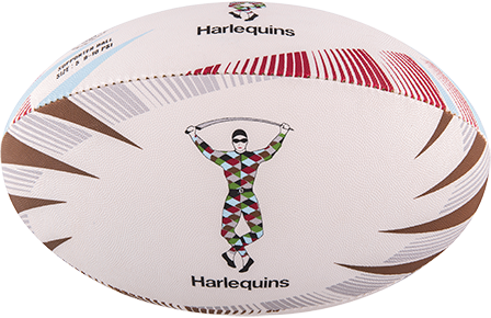Gilbert Ball Supporter Harlequins Sz 5