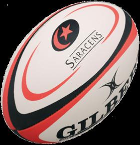 Gilbert rugbybal REPLICA SARACENS - Mini 15cm