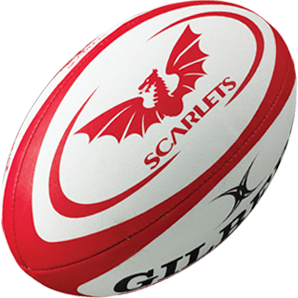 Gilbert rugbybal REPLICA SCARLETS - maat 4