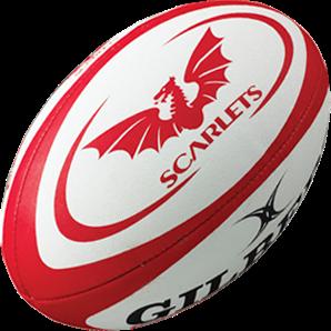 Gilbert rugbybal REPLICA SCARLETS - Midi 24cm