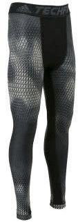 Adidas TECHFIT CHILL GRAPHIC LONG TIGHTS Heren  Anthraciet - S