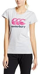 CANTERBURY CCC LOGO TEE - 6 -2XS  LIGHT GREY MARL