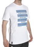 CANTERBURY HOOP STRIPE  TEE - XS - WHITE