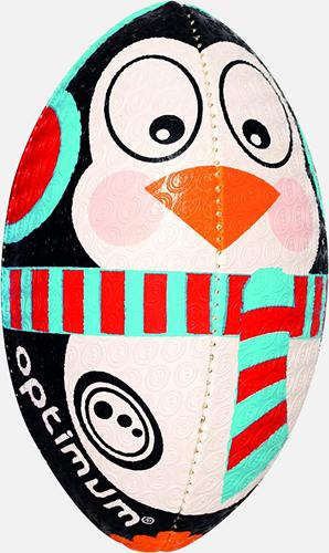 Kerst Pinguin rugbybal maat MINI 15 cm