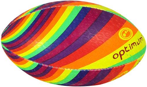 Regenboog rugbybal maat 5