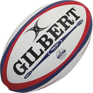 Gilbert rugbybal wedstrijd Photon Red/Blu Sz 5