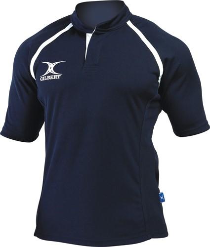 Gilbert rugbyshirt Xact zwart Xs
