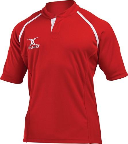 Gilbert rugbyshirt Xact rood 2Xs