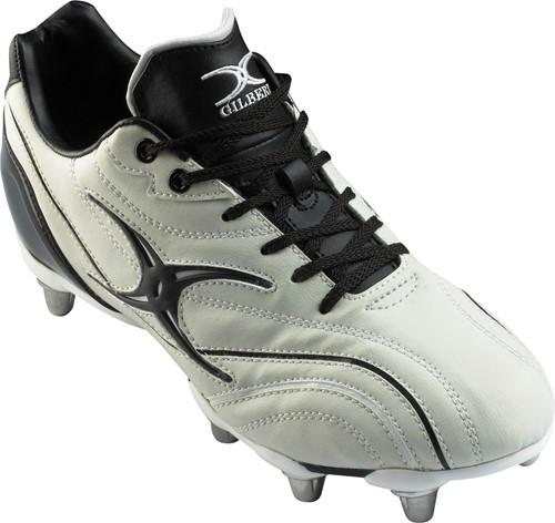 Gilbert rugbyschoenen S/St Zenon wit/zwart 8 noppen S14 / maat 49