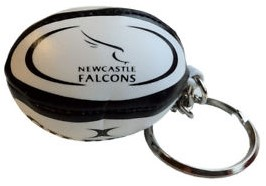 Gilbert rugbybal sleutelhanger NEWCASTLE