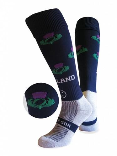 WackySox Schotland sokken  Blauw / Wit - 35-40