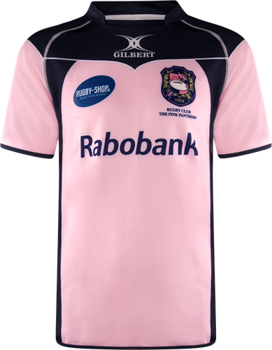 Gilbert rugbyshirt The Pink Panthers -  tight fit maat 2XS