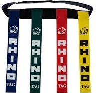 Rugby Tag riem ROOD met tags per 10