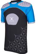Gilbert schouderbescherming / shoulderpads Atomic V3 zwart /zilver / blauw