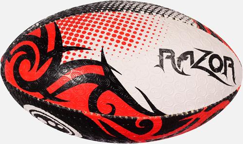 Razor rugbybal zwart/rood/wit maat 3