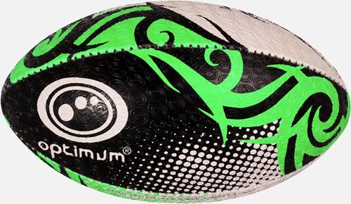 Razor rugbybal zwart/groen/wit maat 4