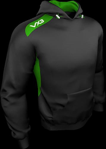 VX3 Team Tech hoodie Black/Emerald