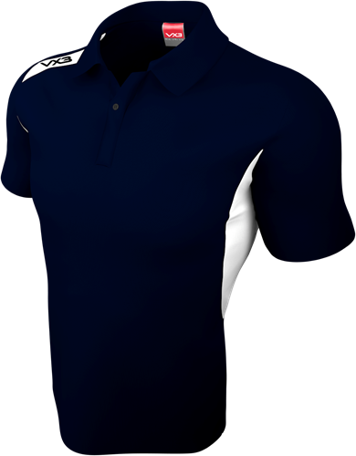 VX3 TEAM TECH POLO NAVY / WHITE